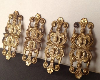 Vintage Gate Findings, Florentine Findings, Ornament Findings, 54m, 3Pcs