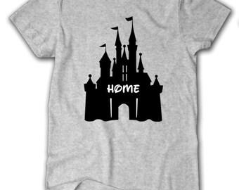 Disney Home Shirt, Disney Castle Home Shirt, Disney Castle Shirt, Disney T-shirt, Disney Shirt, Castle Shirt, Disney Home Shirt