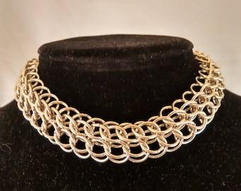 Little choker, chainmail choker, chainmaille choker, goth choker, necklace choker, metal choker, goth chainmaille, statement necklace women