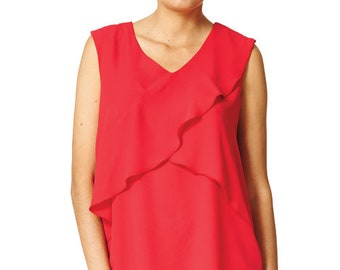 Clara - Flowing overlay sleeveless Blouse