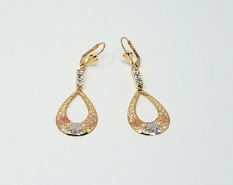 14K Gold Filled Dangle & Drop Earrings/ Free Shipping in the US!