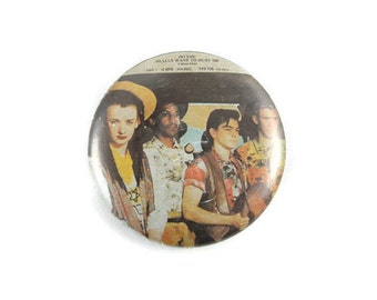 """1980s Culture Club """"Do You Really Want To Hurt Me"""" 1.25"""" Pinback Button Vintage"""