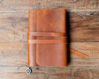 Leather Journal, Refillable Leather Journal, A5 refillable journal, Moleskine cover