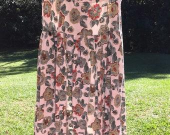 Vintage High Waisted Floral Skirt