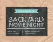 Printable Movie Night Inv...