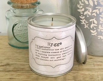Hugge Hygge thank you friend scented candle