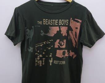 The Beastie Boy Shirt Big Logo Root Down Hip Hop Rap Rock Hardcore Punk Alternative Round Neck Street Wear Top Tee Band T-Shirt Size XS