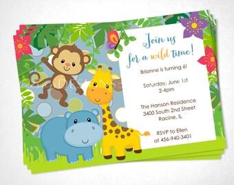 Jungle Animals Birthday or Special Event Invite - DIY Printable