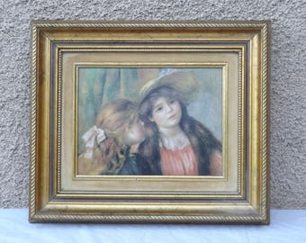 Oil on canvas of two young girls