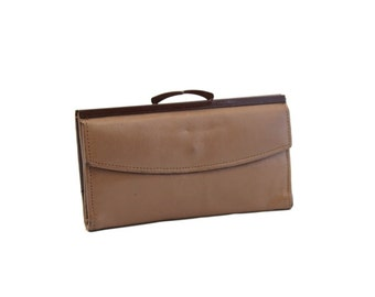 Vintage Brown Leather Wallet, Ladies Wallet, Change Purse, Coin Purse
