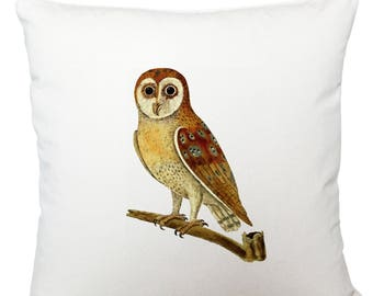 Cushions/ cushion cover/ scatter cushions/ throw cushions/ white cushion/ brown owl cushion cover