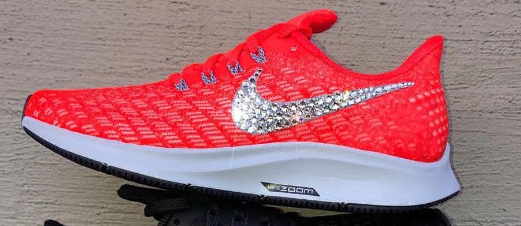 bling Swarovski Nike Air Zoom femmes chaussures Pegasus 35 femmes Zoom b941c9