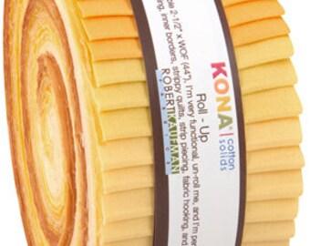 Mustard Seed Palette Kona Cotton JELLY ROLL from Robert Kaufman - 40 pieces (2.8 yards) - RU-429-40