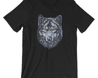 Warrior Wolf T-shirt Animal Lover Tee