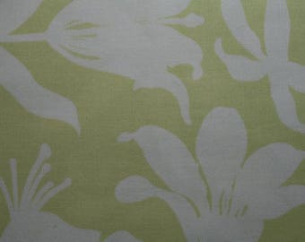 SALE 3 YARDS Quilt Cotton Fabric ~ Joel Dewberry MANZANITA Lily Flowers in Pear Free Spirit Lily Flower Fabric Flowers Floral