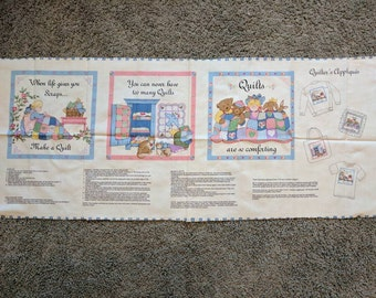 3 cute quilters appliques with detailed instructions