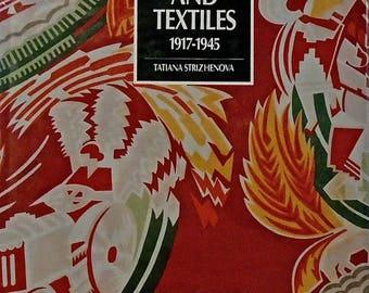 Soviet Costume And Textiles 1917-1945 Hardcover Tatiana Strizhenova