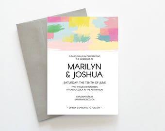 It's a Mod, Mod World - DIY Wedding Invitation // Mid-Century Modern Wedding Invitation // Printable Wedding Invites / Editable PDF Template