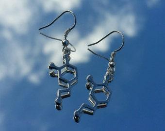 Dopamine Molecule Earrings
