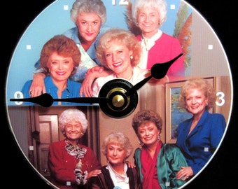 GOLDEN GIRLS Wall Clock - CD Size 4.75 inch diam. Bea Arthur, Betty White, Rue McClanahan, Estelle Getty. Makes a nice gift too!