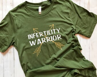 Infertility Warrior ivf iui ttc shirt - ivf, iui, ttc, infertility shirt, ivf tshirt, ivf gift, lucky ivf shirt, ivf tee, Lottie and Co