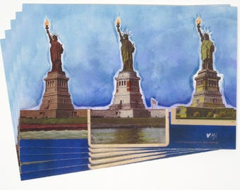 Three Liberties postcards, set of 10
