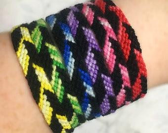 Colour Block Friendship Bracelet