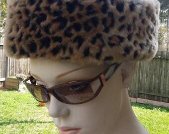 Betmar New York Faux Fur Animal Print hat