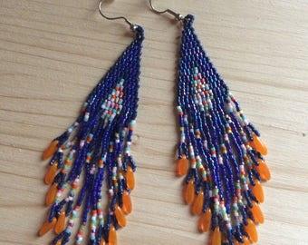 Earrings native american multicolor
