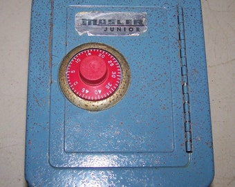 Vintage Metal Mosler Toy Safe Bank