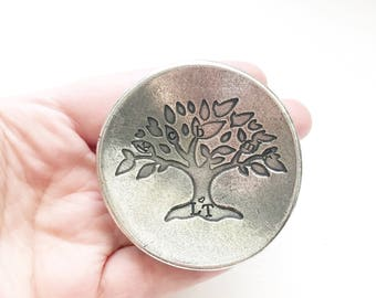 Trinket dish - Hand stamped ring dish - Pewter dish - Personalized ring dish - Custom gift - Anniversary gift - Wedding gift - Dish for ring