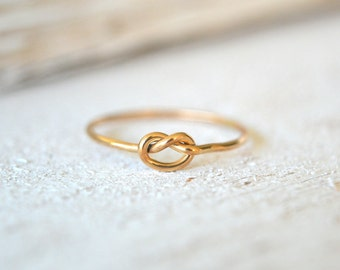 Gold Knot Ring, Love Knot Ring, Bridemaids Ring, Promise Ring, Knot Ring Gold,  Knot Gold Ring