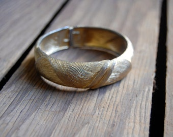 Gold Tone Monet Cuff Bracelet