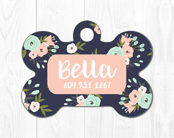 Dog Tags for Dogs Personalized Dog Tag for Collar Dog Collar Tag Dog ID Tag Custom Pet Tags Pet ID Tag Custom Dog Tag Pink Mint Blue Cute