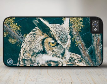 """Owl iPhone   Case, Owl iPhone Case, Owl iPhone Case Protective Phone Case """"Eye of the Beholder"""" 50-3148"""