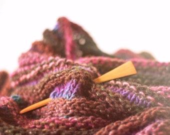 Natural Shawl Pin - Wooden Shawl Pin - Gifts for Knitters - Handmade Shawl Pin - Wood Shawl Pin - Shawl Stick