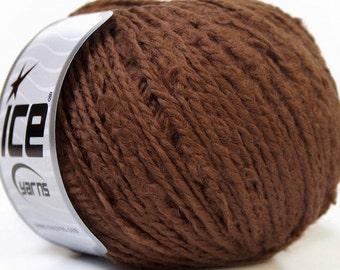 Destash yarn, Knitting  yarn, brown, DK, light worsted weight, Y118