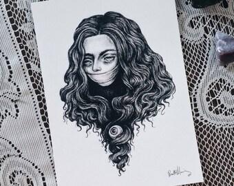 Seer 5x7 art print