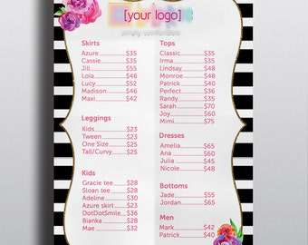 Price Chart - *New Styles Included