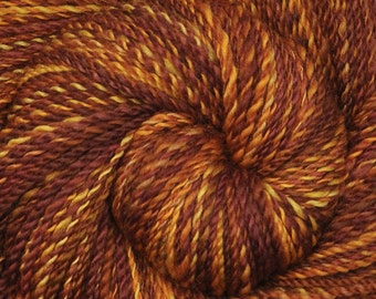 Handspun yarn - Hand painted Blue Faced Leicester (BFL) wool, DK weight, 315 yards - Nottingham Stoneware