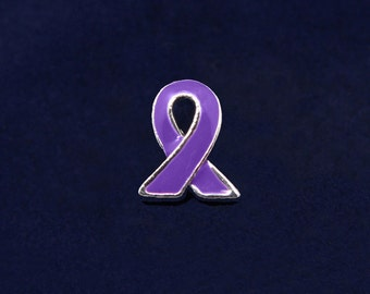Purple Ribbon Lapel Pin (RE-P-06-4)