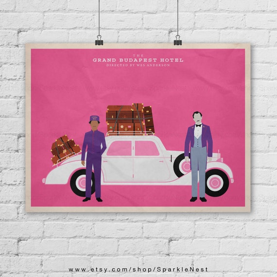 The Grand Budapest Hotel. Wes Anderson Films Poster. Zero Moustafa. Movie Art Print. Pop Culture And Modern Home Decor Poster. Item No. 287 by Etsy