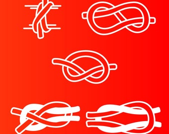 Rope Knots - Clove Hitch, Figure 8, Overhand, Sheetbend, Square