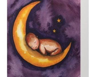 Sleep, Baby, Sleep Greeting Card