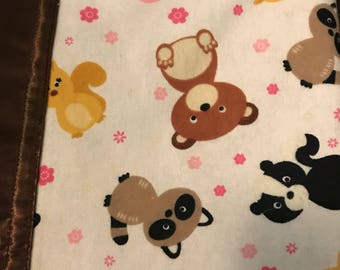 Woodland animals Silkie baby blanket