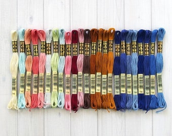 DMC Floss, Color Range 746-799, 6-Strand Cotton Thread for Embroidery, Cross Stitch and Needle Arts, sold individually