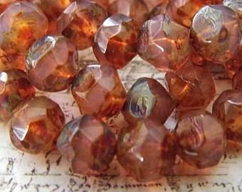 Pink Opalite, Czech Beads, Beads, 7-1