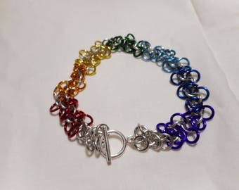 7 Inch Loose weave Chainmaille Bracelet