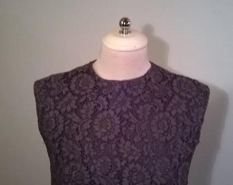 cotton lace top/skirt set 1960's