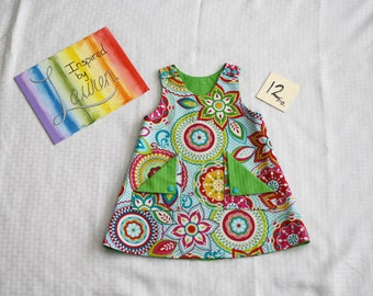 Reversible Pinafore - Size 12months